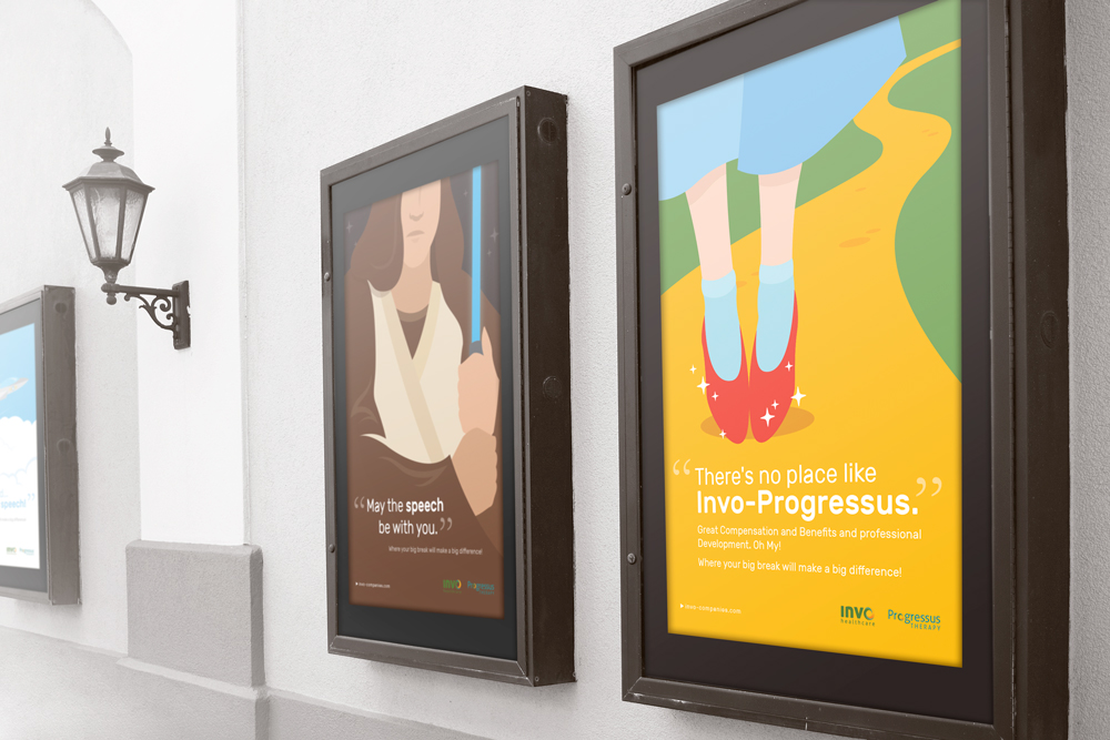Invo Health: Vector Illustrations on Film Posters