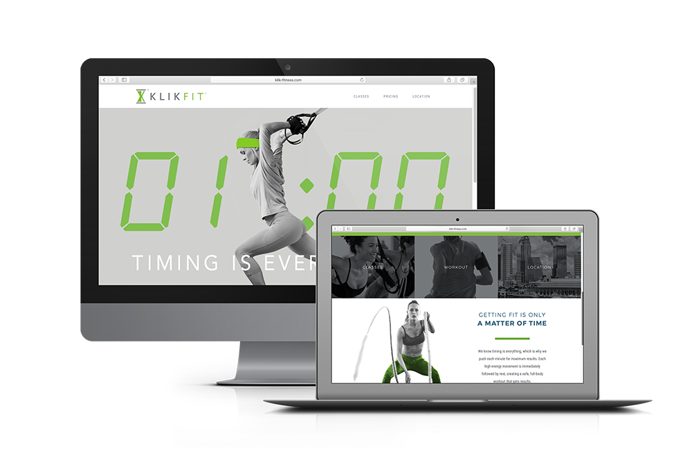 KlikFit: Fitness Studio Website Design
