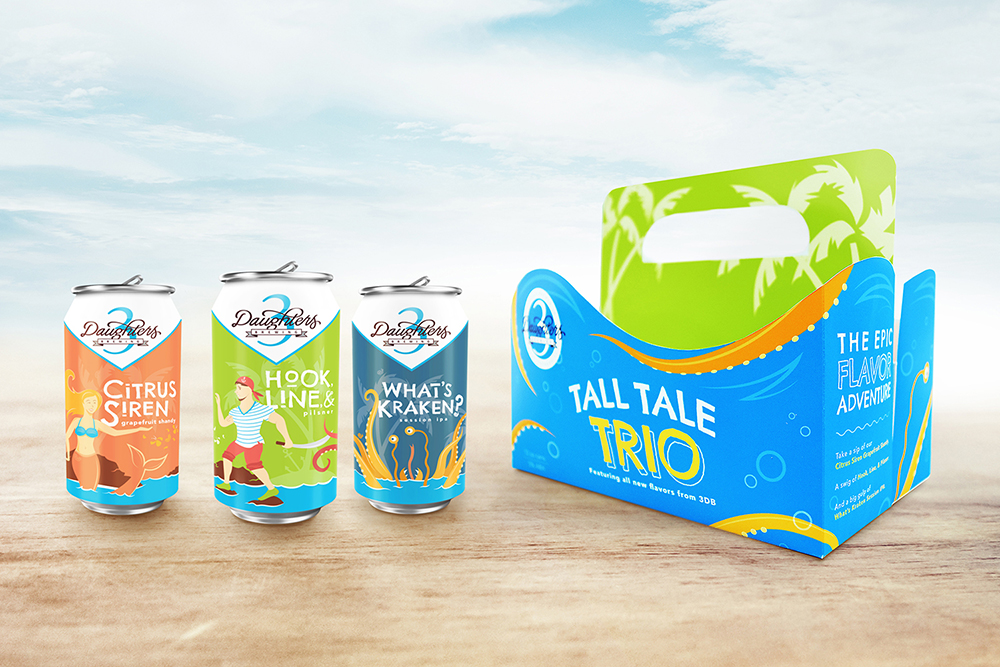 Tall Tale Trio: Beer Can Designs and Custom Box